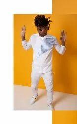 Designer White Full Sleeve Men Casual Cotton Shirt