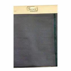 Grey Synthetic School Uniform Fabric