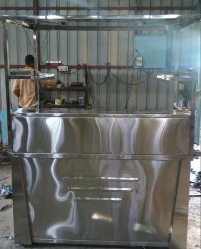 Stainless Steel Vadapav Counter