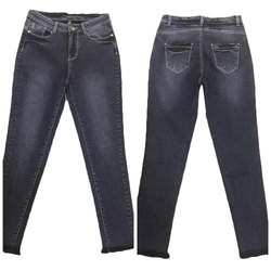 Ladies Denim Black Stretchable Jeans