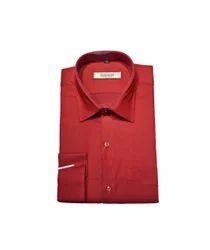 Cotton/Linen Indians Boutique Stylish Men's Shirt (Red)