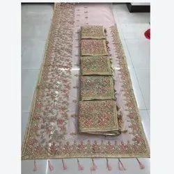 Ladies Designer Stylish Saree 5.5 m (Separate Blouse Piece)