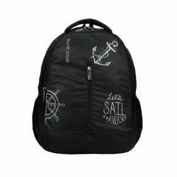 Plain Black AV Escape School/College Backpack