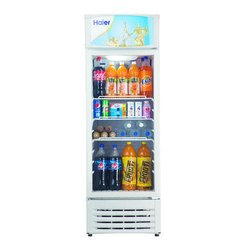 Blue Haier Single Door Visi Cooler 340 Litter