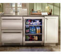 Undercounter Refrigerator, Number Of Shelves: 3, -18 To 6 Degree C