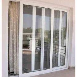 UPVC,Glass White Bedroom UPVC Sliding Door