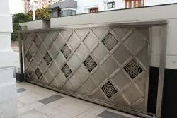 Polished Stainless Steel Sliding Gate
