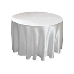 White Ina Satin Table Cloth