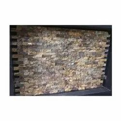 Brown Interlock Natural Stone, For Wall Cladding, Thickness: 15 Mm