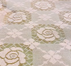 Printed 42 Rose Flower Jacquard Fabric, 120-140 GSM