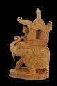 Wooden Elephant With Ambadi