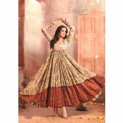 Ladies Digital Printed Cotton Gown