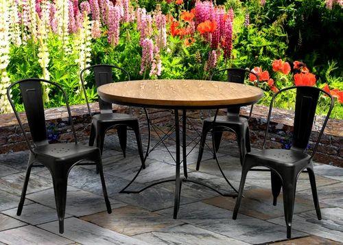 Metal Dinning Sets Tolix Seating Set, Tolix Outdoor Chair