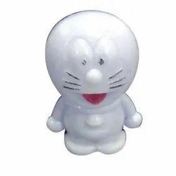 White Plastic Doremon, Child Age Group: 3-7 Year