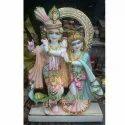 Marble Jugal Jodi Goddess Statue