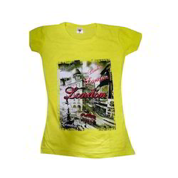 Casual Yellow Ladies T Shirt