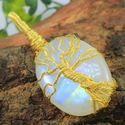 Rainbow Moonstone Wire Wrapped Gemstone Pendant
