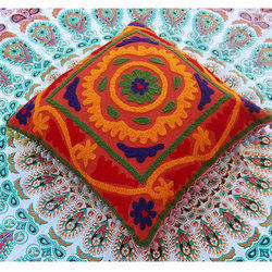 Red Embroidery Cushion Cover
