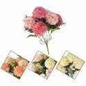 Pink, Peach, Orange Etc. Plastic Artificial Mum Flower Bunch, Packaging Type: Packet