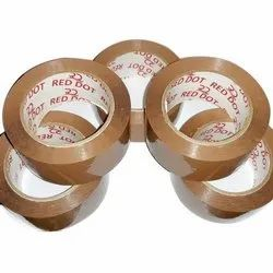 Red dot 260 Meter BOPP Self Adhesive Tapes, For Carton Sealing & Saving, Feature: Water Proof