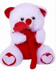 White And Red Soft Teddy Bear