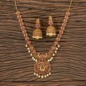 Rubygreen Antique Matte Gold Plated Peacock Necklace 203414