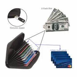 Leather Credit Card Holder-Rfid Unisex