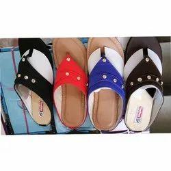 Chitra Casual Wear Ladies Flat Slipper, Size: 6-10