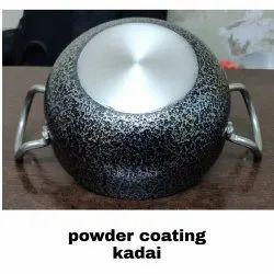 Powder Coated Aluminium Kadai