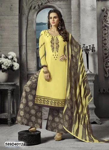 db6cf85cf8 Fancy Cotton Dress Material, Salwar Suit - Clothely Wholesale, Surat ...