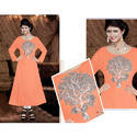 Orange Embroidered Ladies Kurti
