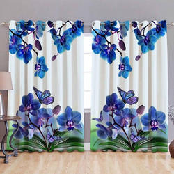 Floral Design Digital Curtain