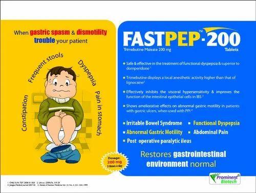 Trimebutine Maleate 200 Mg, Digestive System Drugs