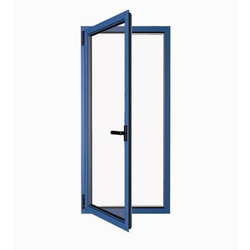 Blue Aluminum Door Frame