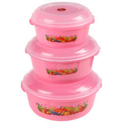 Plastic Storewell Container 3 Pcs
