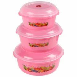 Plastic Storewell Container 3 Pcs