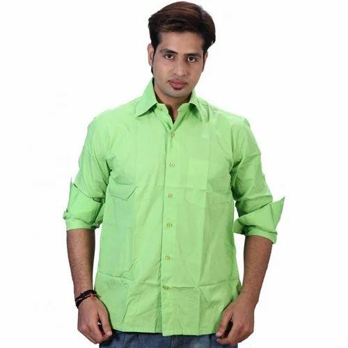 46412bf5d85d Cotton Mens Casual Shirt Light Green, Rs 599 /piece, 24 E Online ...