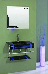 Glass Lip Counter Vanity Set