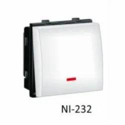 6A White Nestone NI-232 Switch Modular, Switch Size: 1 Module