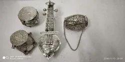 Abc Handicraft Silver White Metal Antique Musical Set, Size: Free Size