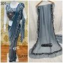 Heavy Georgette ruffle saree