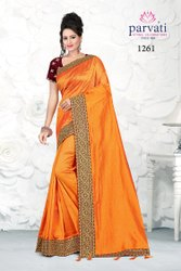 Exclusive Party Wear Embroidery Silk Saree With Blouse By Parvati Fabric (Vol-250)