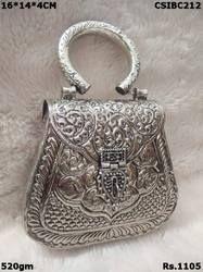 Metal Silver Clutch