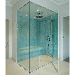 Frameless Corner Shower Glass