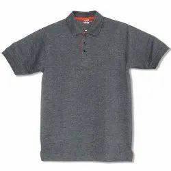 Print Grey Polo Office T-Shirt