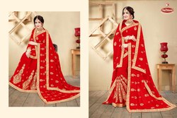 Bridal Wear Georgette Saree - Bahurani -05
