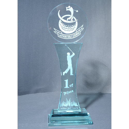 Glass Trophy Rs 730 Piece Image Gift