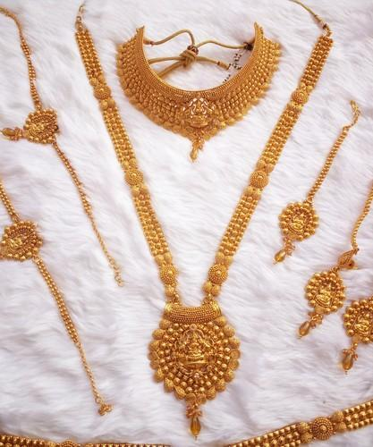 South Indian Temple Bridal Set Jewelry