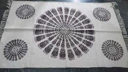 Jute wool printed Dhurries