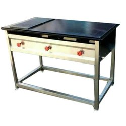 Stainless Steel Commercial Hot Plate With Chapati Puffer, For Restaurant